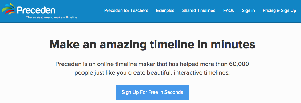 preceden is an online timeline maker that has helped more than