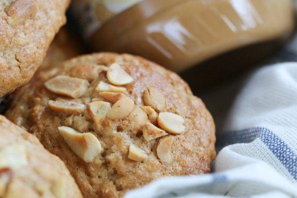 Honey Oat Peanut Butter Muffins