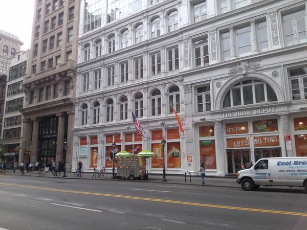 Manhattan Home Depot In Historic Cast Iron Multi Story Buildings