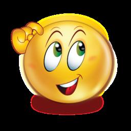 Thinking Open Eyes Stickers Emoji Emoticons Emojis Smiley Emoji