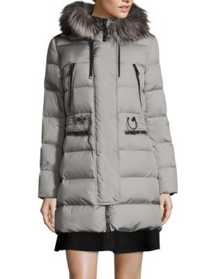 MONCLER Aphrotiti Silver Fox Fur Puffer Jacket. #moncler #cloth #jacket