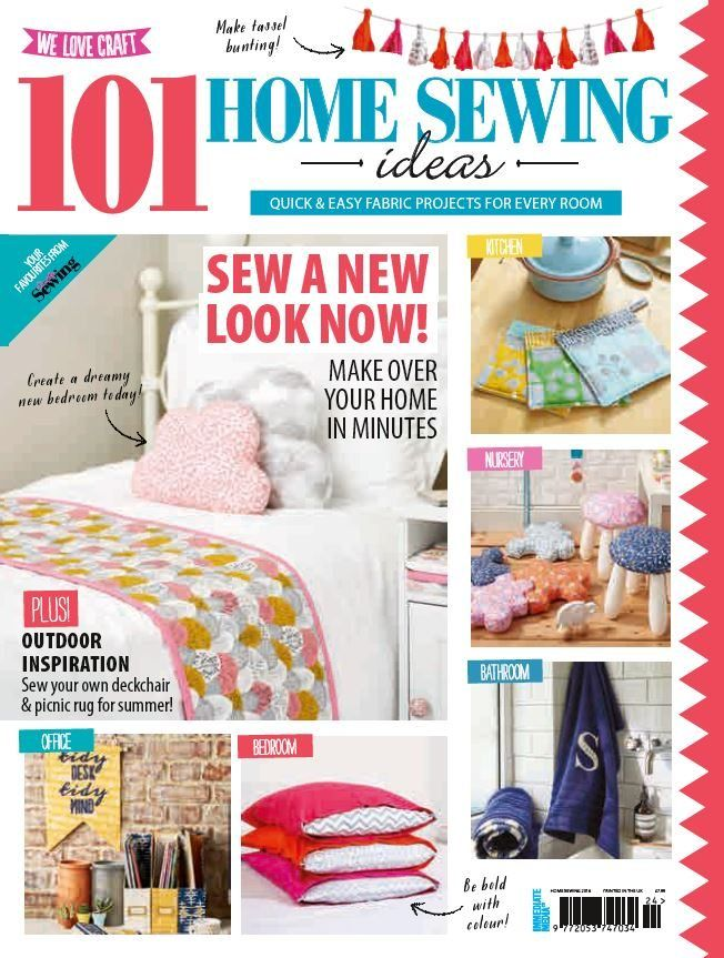 101 Home Sewing Ideas! Quick & Easy Fabric Projects For Every Room ...