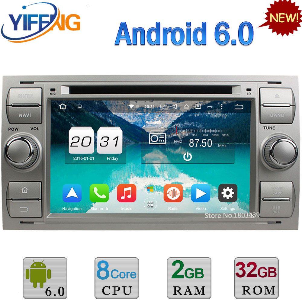 Android 6.0 32GB ROM Octa Core 4G 2GB RAM Car DVD Radio Player GPS ...