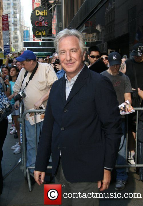 "April 4, 2008 - Alan Rickman right after an appearance on ""Good Morning America."""