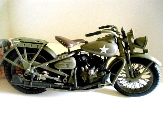 g i joe wwii army military police mp motorcycle harley davidson