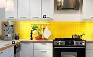 Personalized Kitchens From Logoscoop Yellow Kitchen Tiles Kitchen Color Yellow Yellow Kitchen Walls