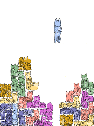 Tetris of cats