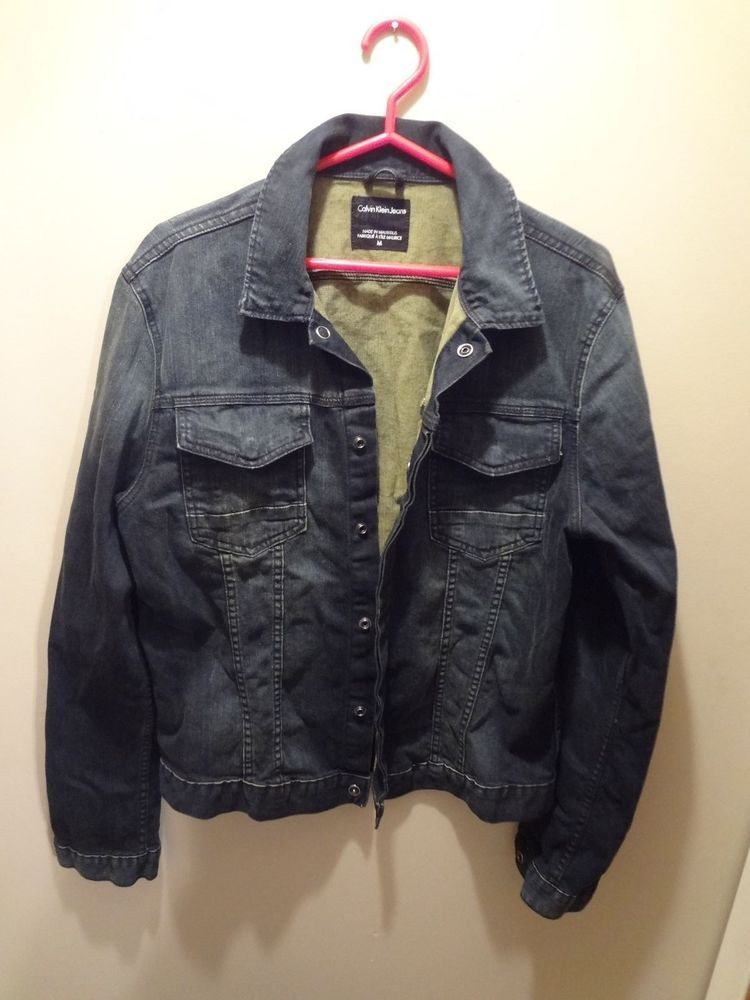 ad502ad12df Calvin Klein Jeans denim jacket made in Mauritius mens size medium ...