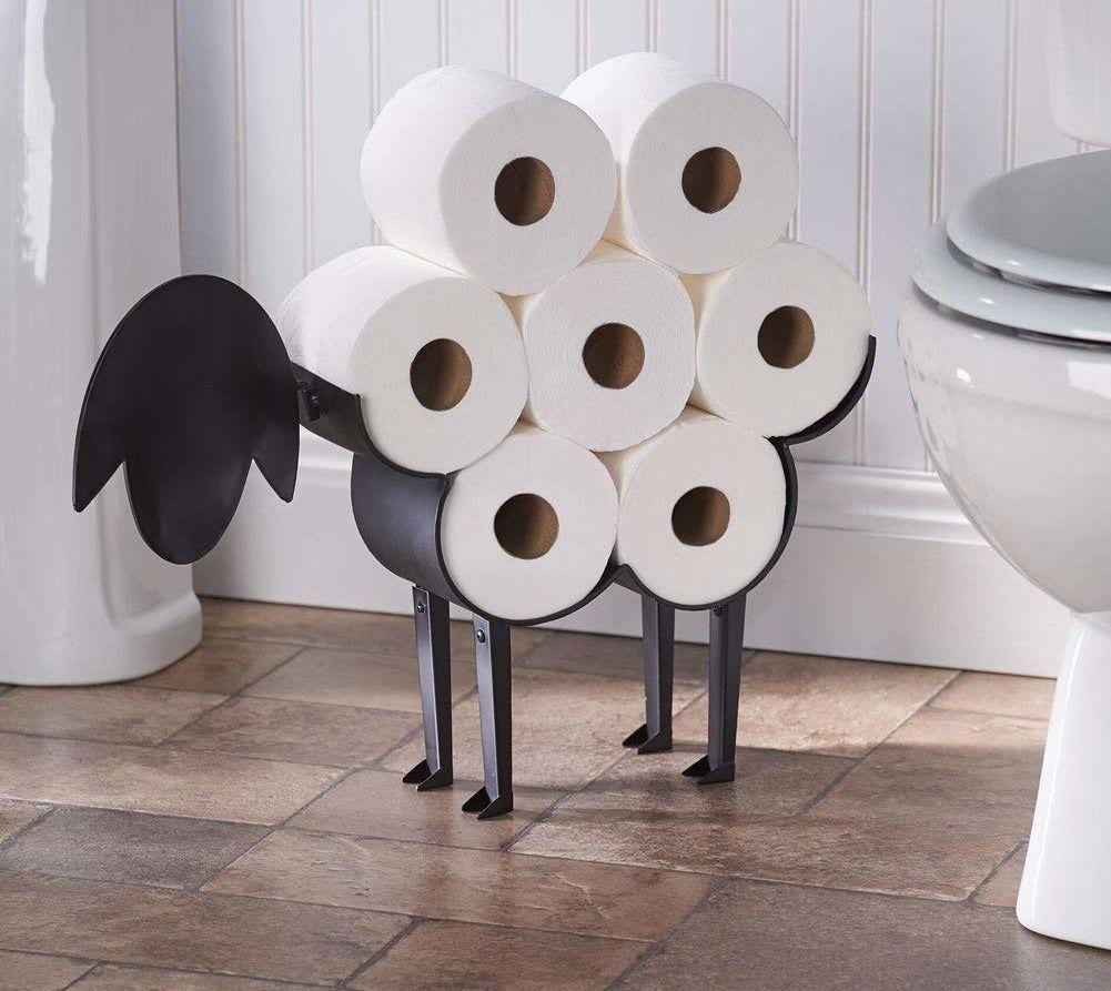 An Lol Worthy Toilet Paper Organizer That Ll Turn Your Bathroom Into A Baaaaaaaaaathroom Toilet Paper Roll Holder Toilet Paper Holder Diy Toilet