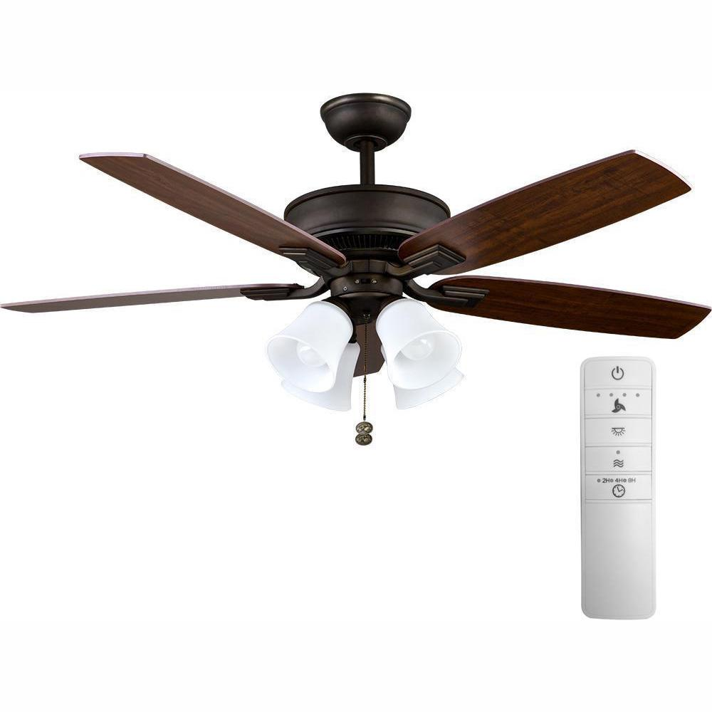 Hampton Bay Devron 52 In Led Indoor Oil Rubbed Bronze Smart