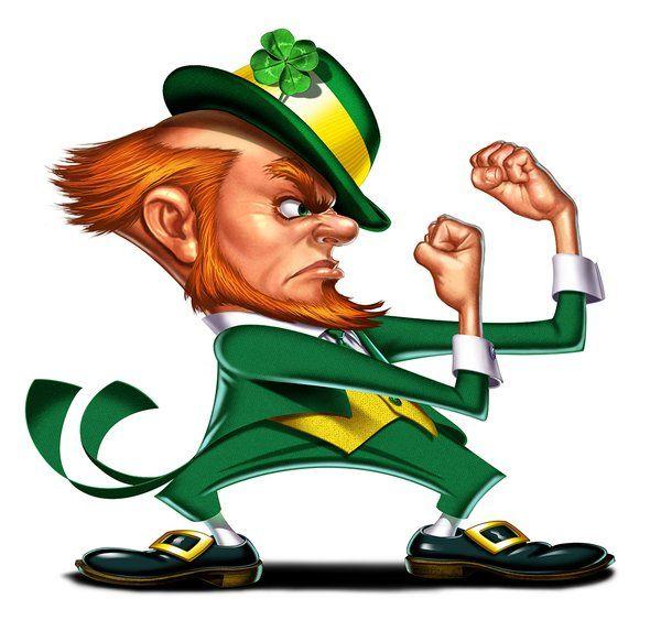 Happy St Patricks Day Heres A Fighting Irish Leprechaun Cartoon