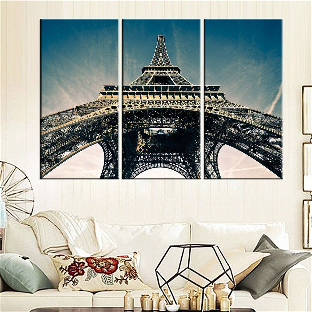 Modern Canvas Painting Eiffel Tower Art Picture Oil Painting Home Decor Paris Landscape Modular Wall Painting