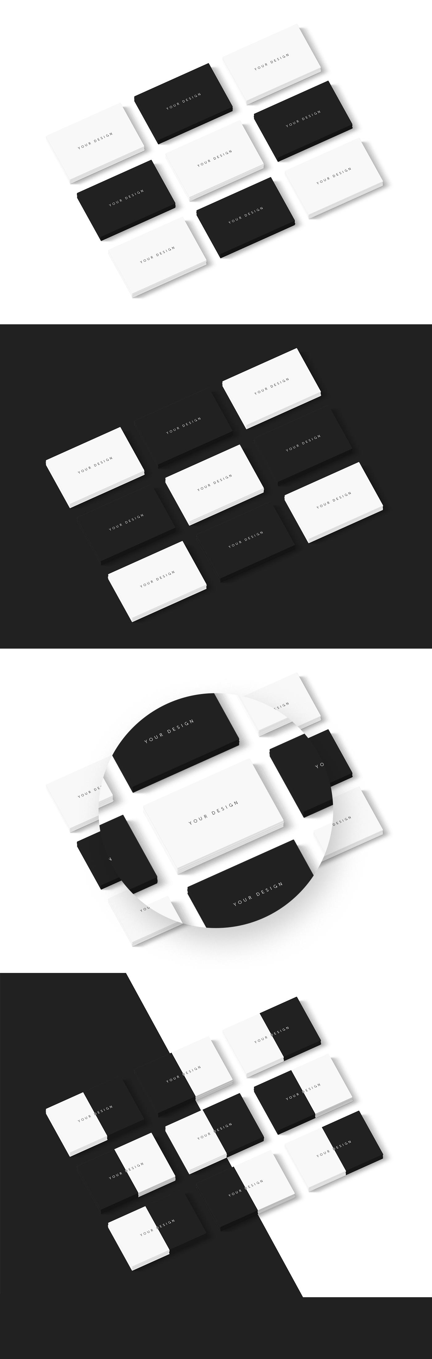 Carte De Visite Name Cards Business Card Free Mockup PSD On Behance