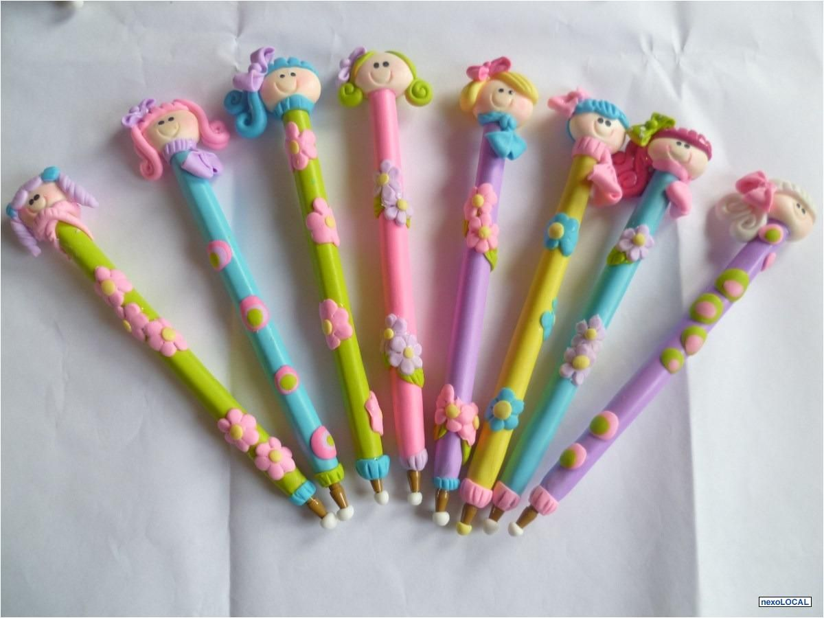 Lapiceros decorados con masa flexible buscar con google - Plumas para decorar ...