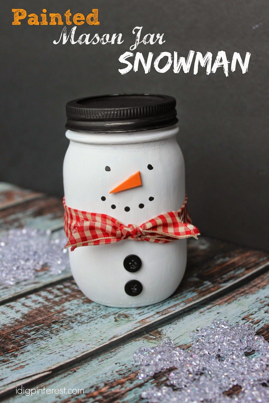 I M Slightly Obsessed With Mason Jars Right Now And Because My Santa Painted Mason J Mason Jar Christmas Crafts Christmas Mason Jars Diy Easy Mason Jar Crafts