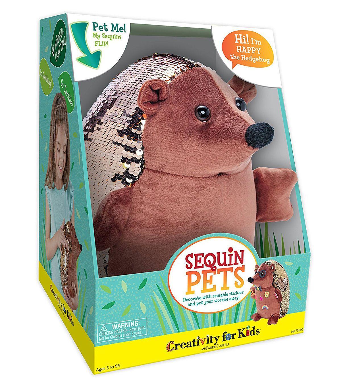 Creativity for Kids Sequin Pets Happy the Hedgehog Plush