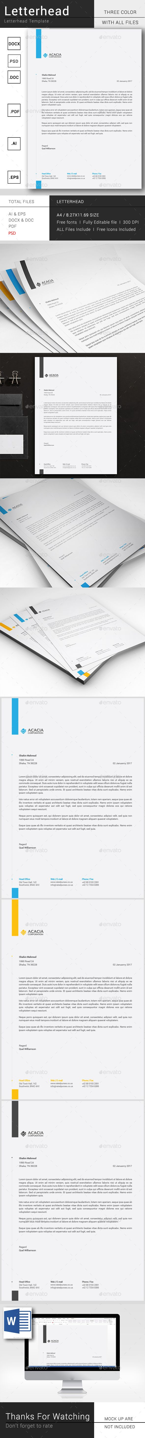 Simple letterhead template psd vector eps ai illustrator ms word simple letterhead spiritdancerdesigns Choice Image
