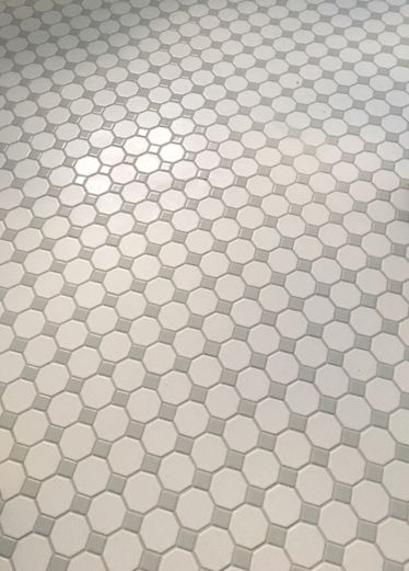 Recent Installation Of Octagon Dot By Daltile Love The Classic
