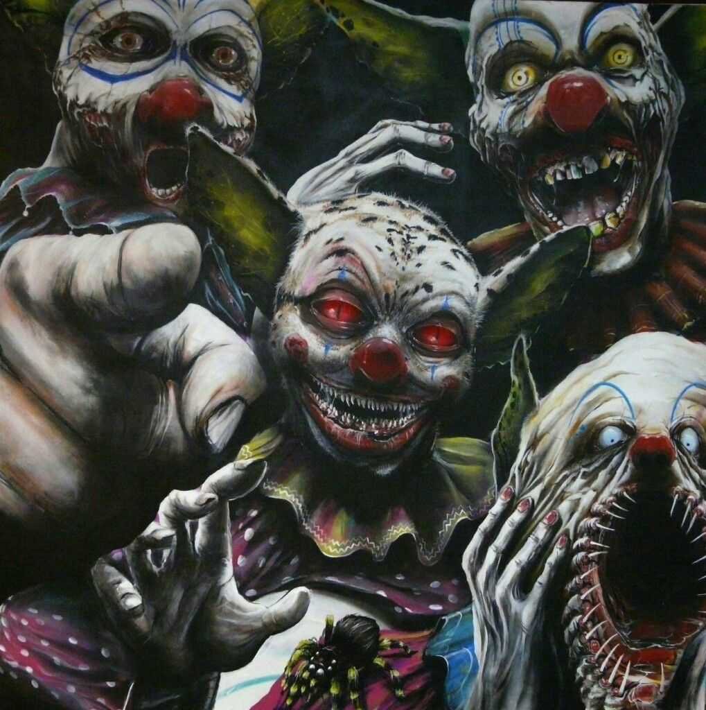 Pin by Nicole Bumgarner on Clowns Horror art, Creepy