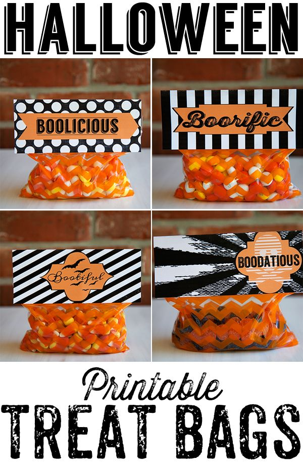 printable halloween treat bags by whipperberry such a fun idea for classmates or trick or - Pinterest Halloween Treat Bags