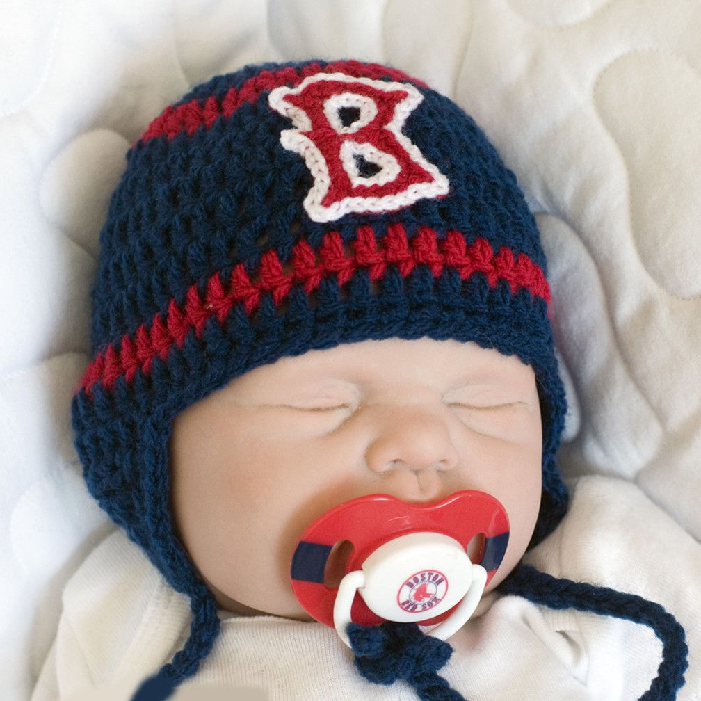 9b6c08e94 Baby Boy Baseball Hat & Boston Red Sox Pacifier | Grandmabilt ...