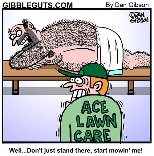 Hairy Back Cartoon Lawn Care Companies Lawn Care Hairy