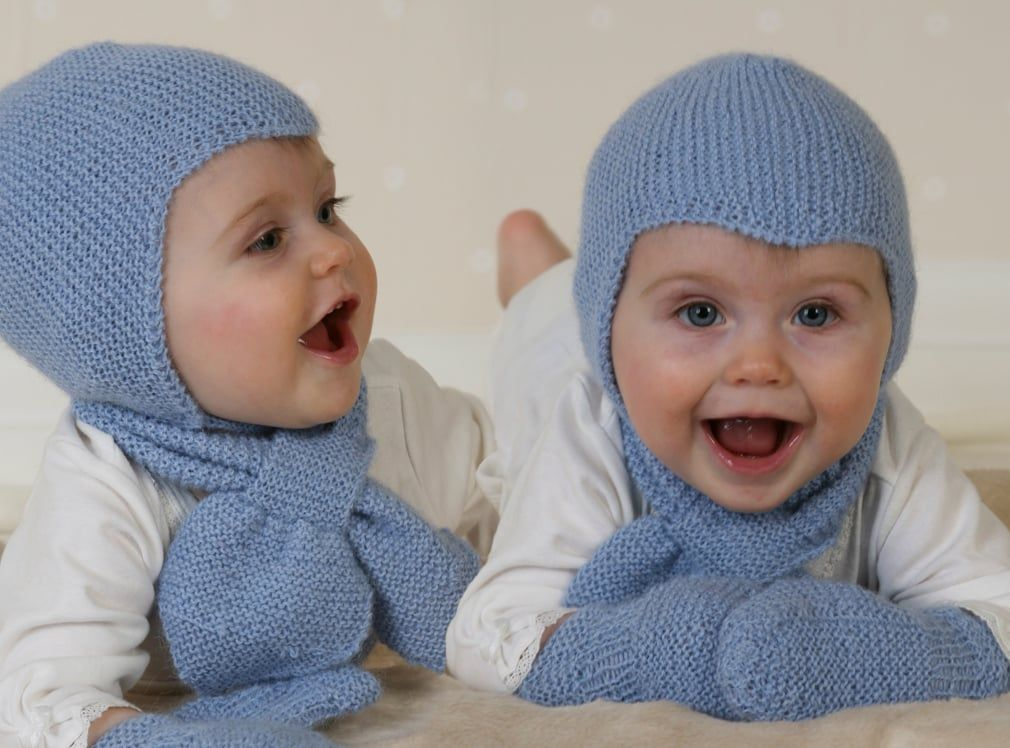 DROPS Knitting Tutorial: How to work the Aviator baby helmet hat ...