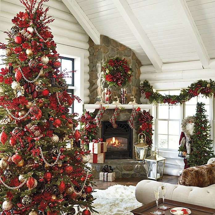 11 Christmas Home Decorating Styles (70 Pics Navidad, Decoración - chimeneas navideas