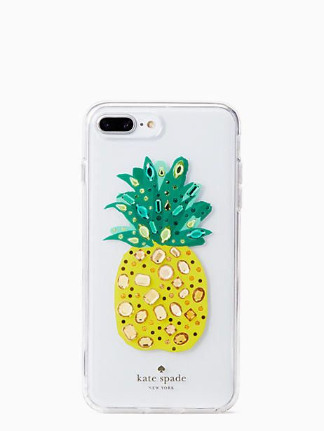 timeless design 1fc49 ad3e4 Kate Spade jeweled pineapple iPhone 7 & 8 plus case, Clear ...