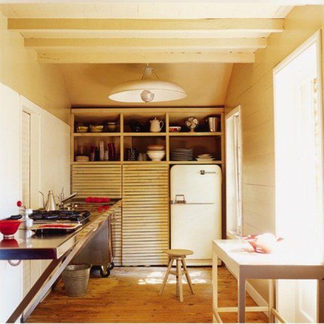 Une cuisine vintage en bois clair