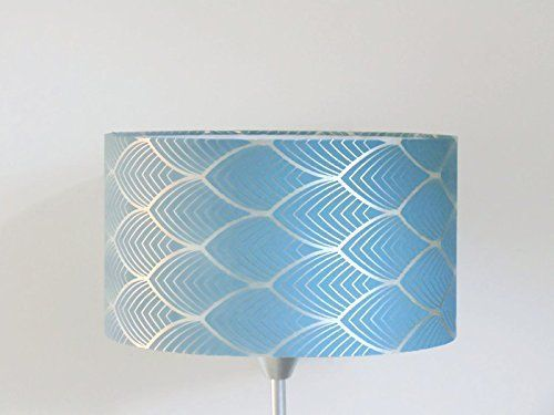 Bleu Argent Géométrique Art Jour Abat Et Diamètre Déco Luminaire KuTlF3Jc1