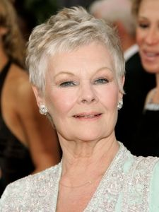 Dame Judi Dench Extra Short Pixie Haircut For Older Women Eyes