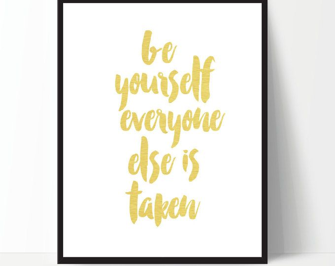 Quote Be Yourself, Typography, Inspirational Poster, Gallery Wall ...