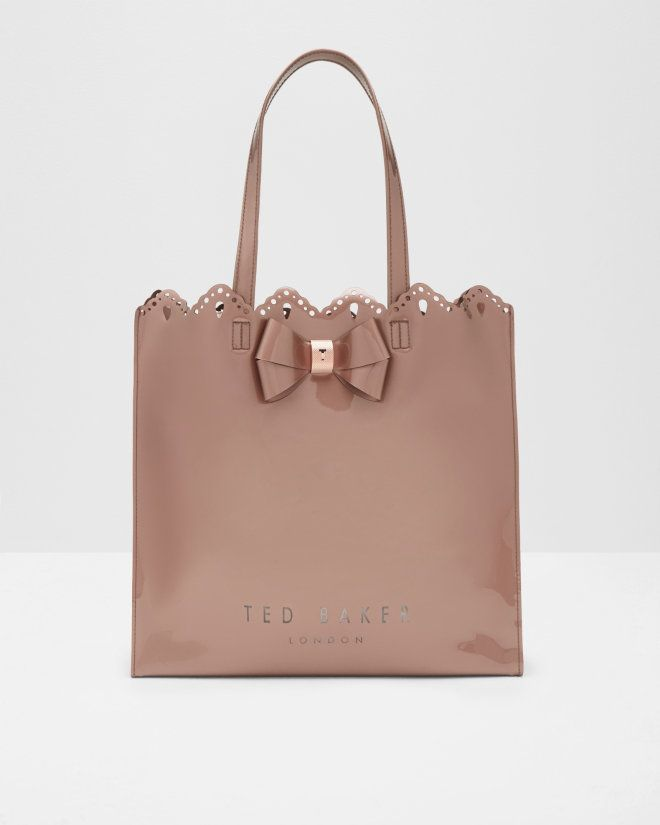 57bc62e3e74b Scalloped edge shopper bag - Rose Gold
