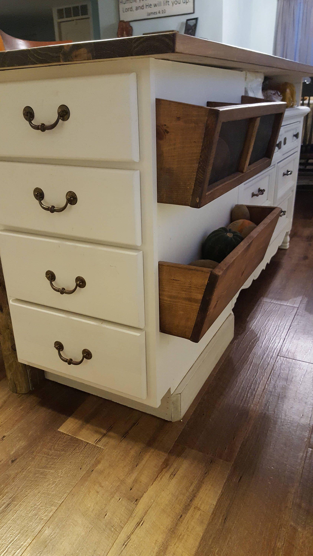 Rustic Wood Bins Potato u0026 Onion Bins Kitchen Bathroom Bedroom Storage Bins & Rustic Wood Bins Potato u0026 Onion Bins Kitchen Bathroom Bedroom ...