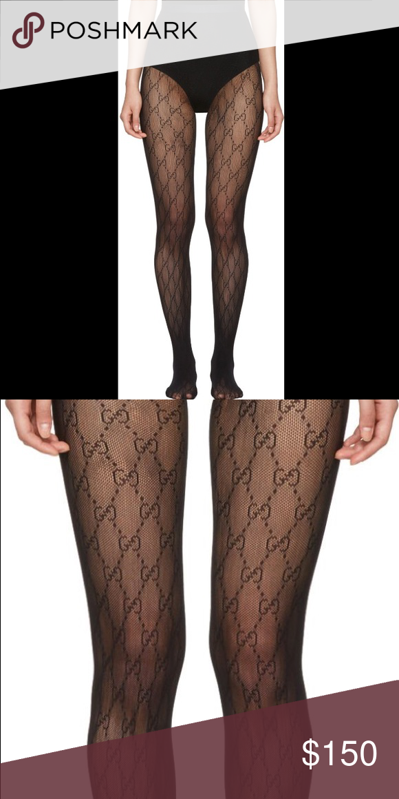 d6b492dd701 Gucci black interlocking G fishnet stalking tights These have been sitting  in my drawer but never worn. New without tags. Gucci Intimates   Sleepwear