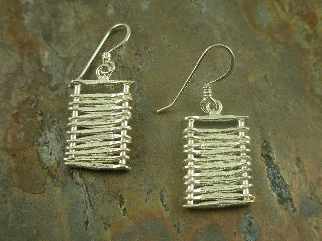 Unique handcrafted sterling silver earrings.