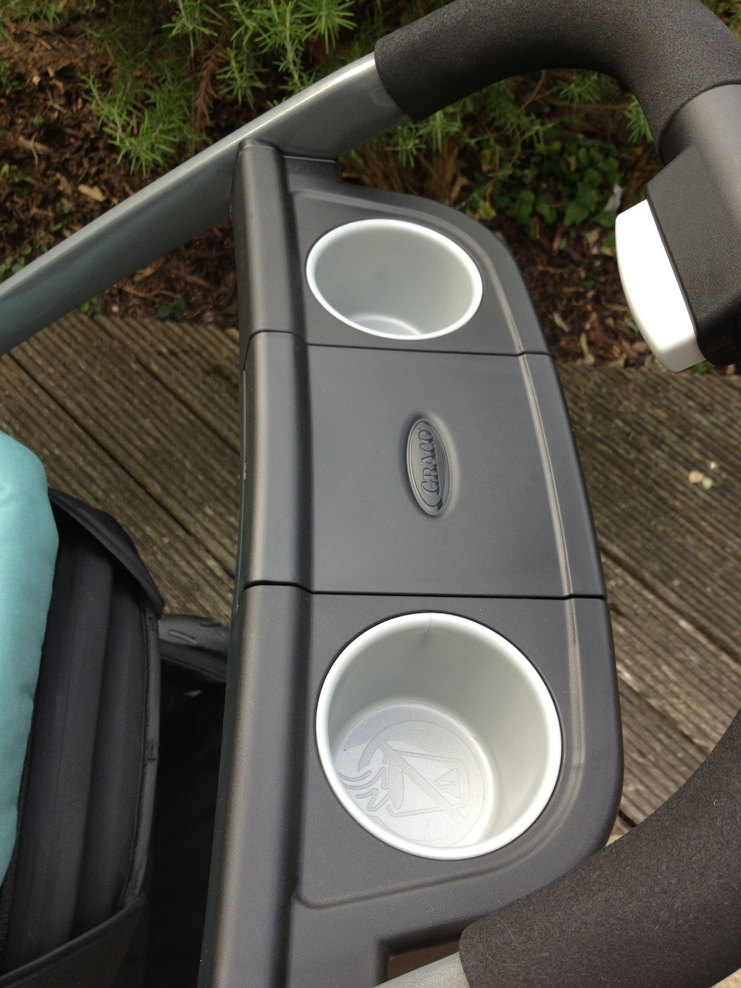 Graco Babyschale Adapter Graco Sky Parent Tray Cup Holders Storage Compartment