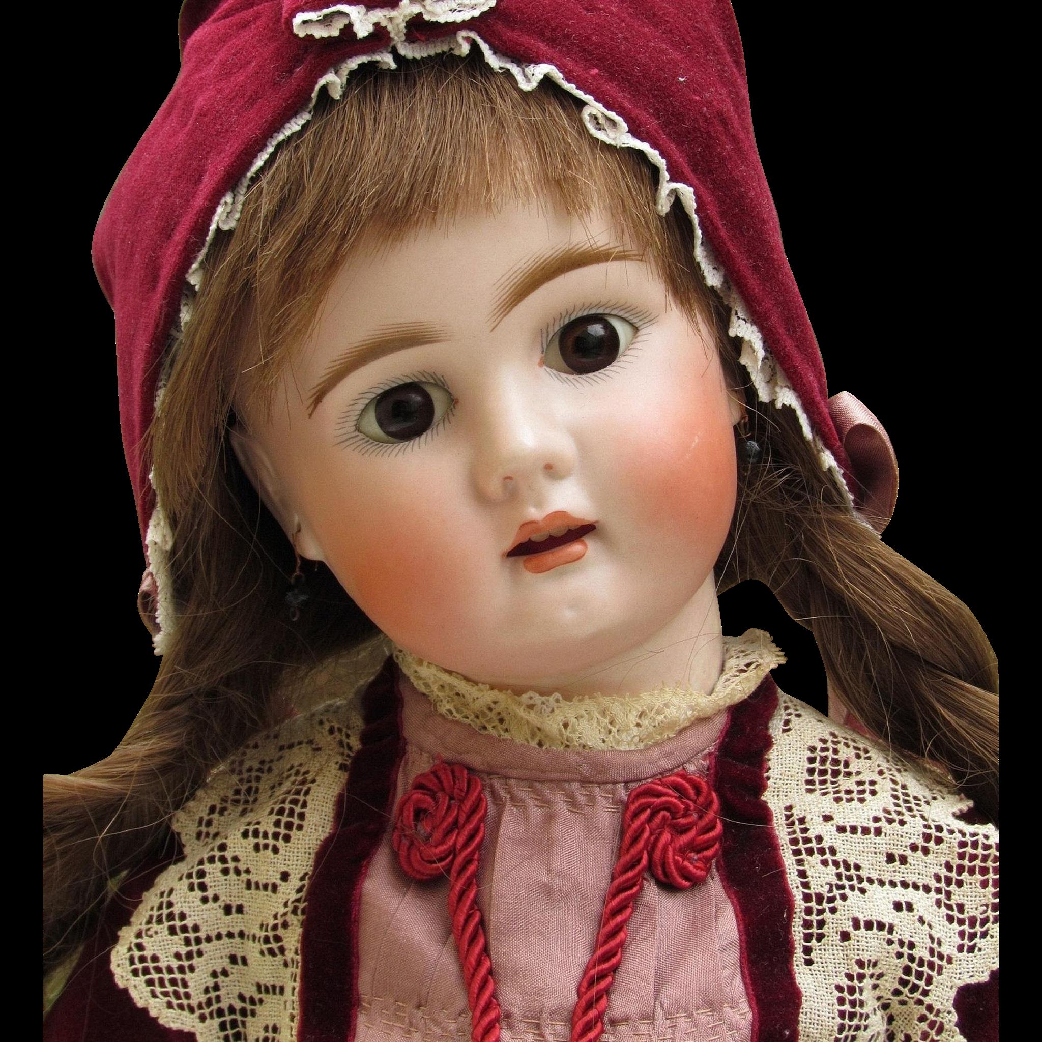 Darling 20 Antique German Sonneberg Doll by Bahr & Proschild Mold