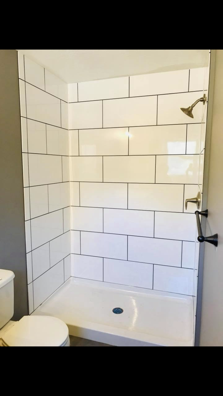 Large White Subway Style Tiles For Shower Large Tile Bathroom