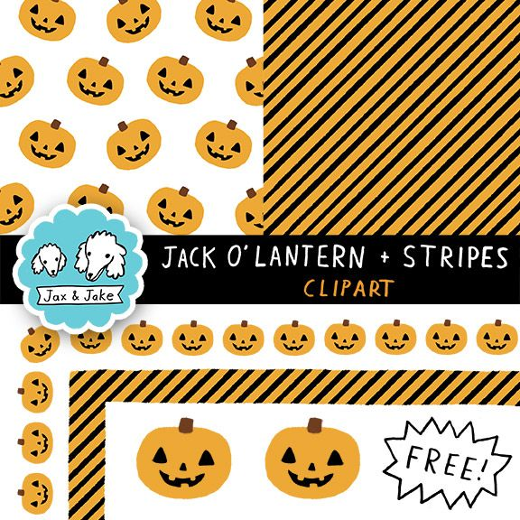 Clip art free jack olantern and stripes halloween borders and clip art free jack olantern and stripes halloween borders and digital papers urtaz