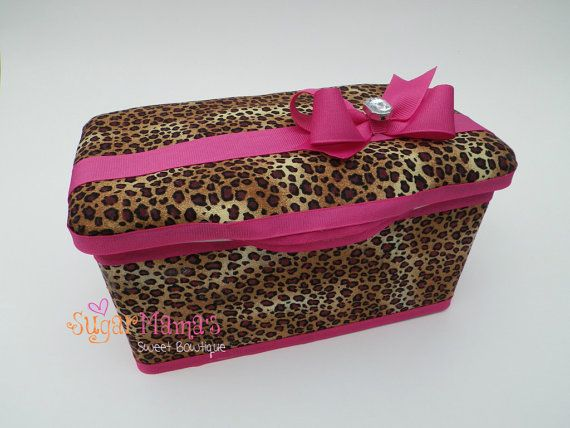 Leopard Print Baby Wipes Tub (Hot Pink Version) Designer Fabric ...