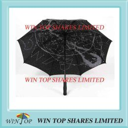 "30"" Sky sublimating panoramic golf umbrella"