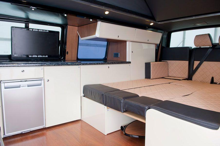 slide side conversions vw slideside vw bus camper ausbauten pinterest. Black Bedroom Furniture Sets. Home Design Ideas