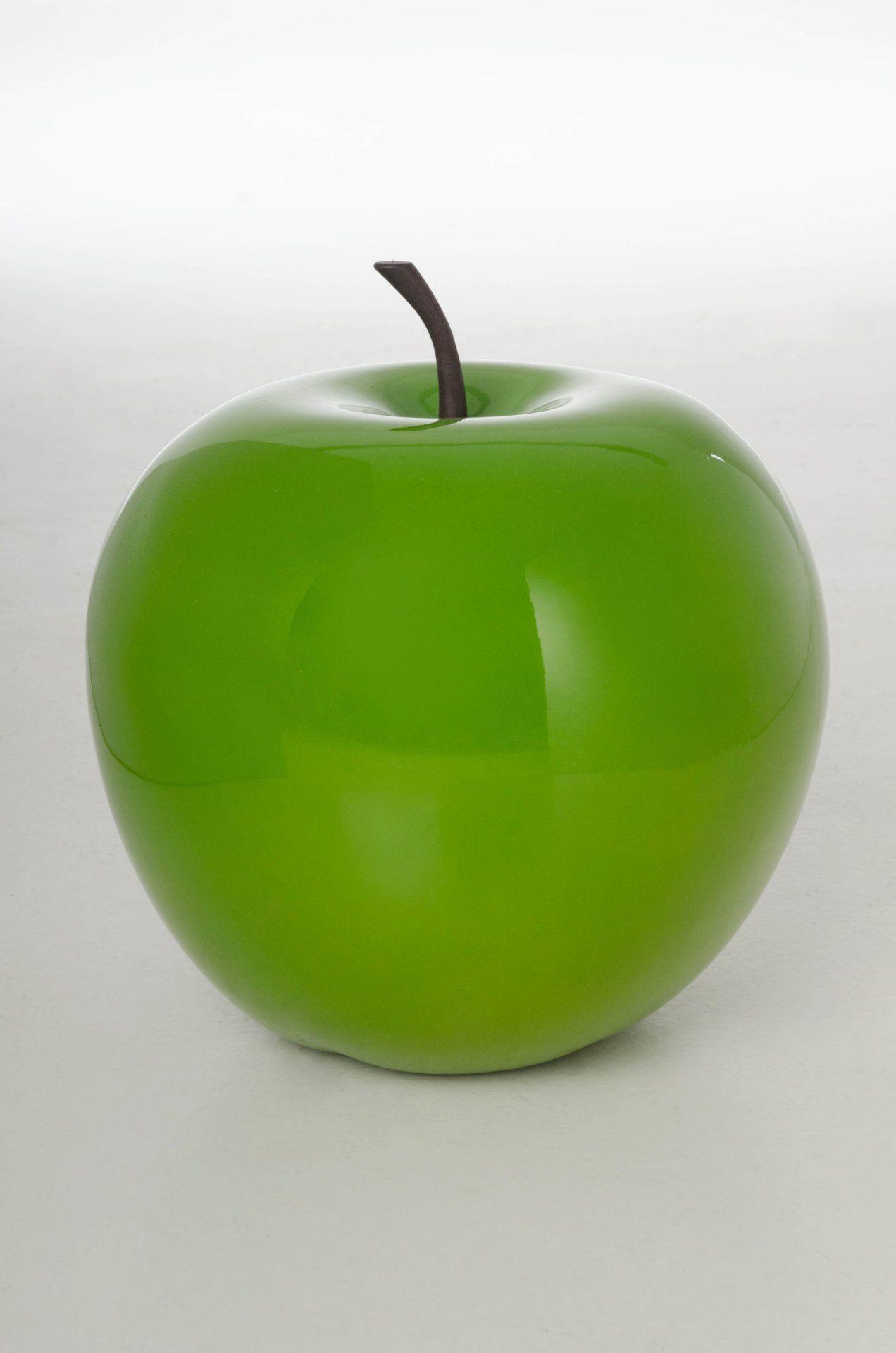 Deko Obst Apfel Fiberglas Grun Hochglanz Dieser Deko Apfel