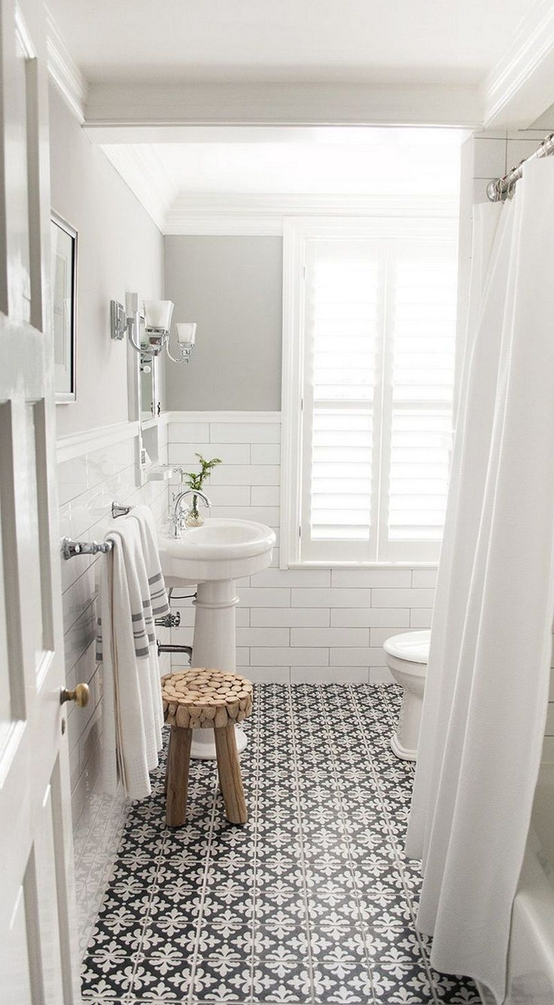 The 15 Best Tiled Bathrooms on Pinterest | White mosaic tiles ...