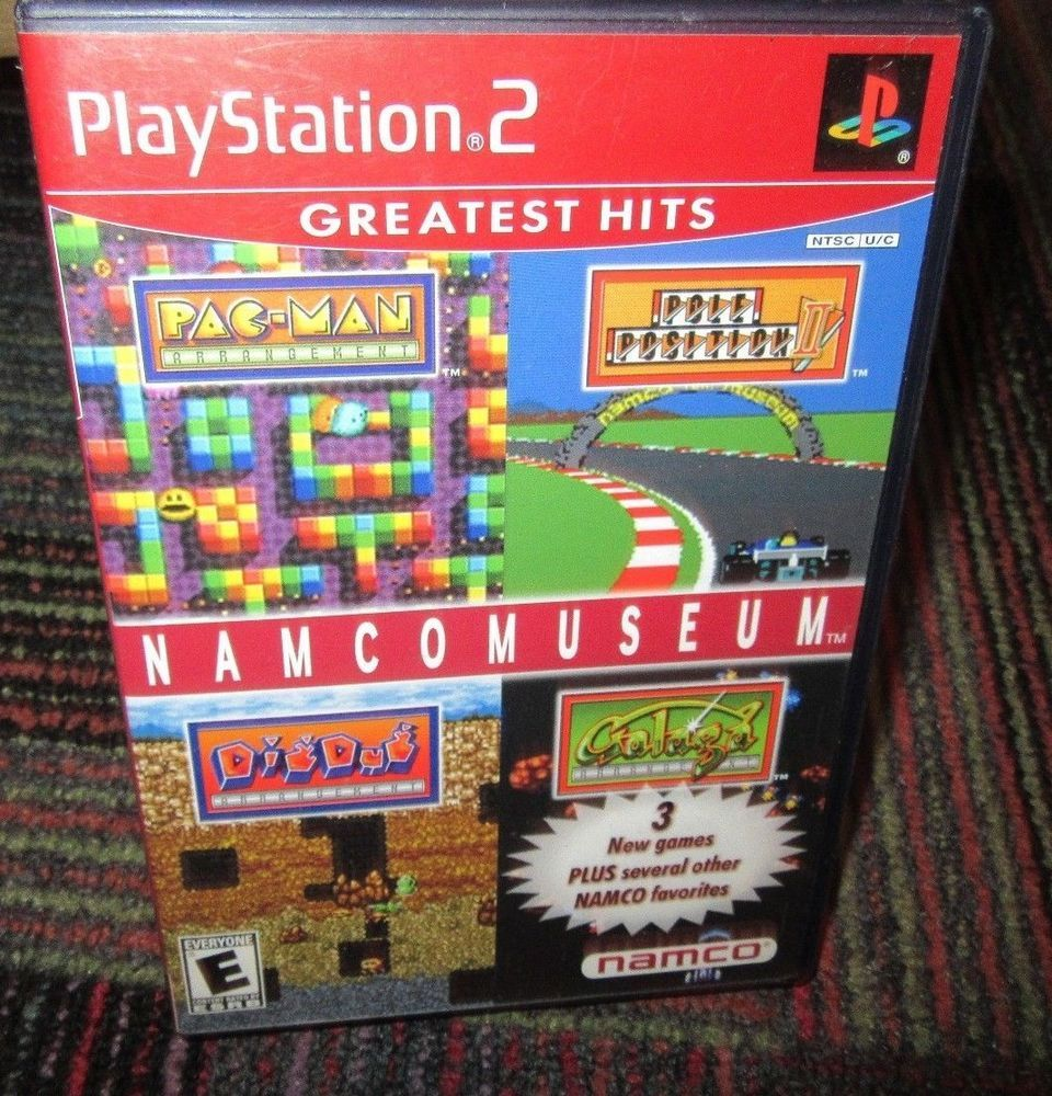 Namco Museum Game For Playstation 2 Ps2 Case Game Greatest Hits Blue Disc Namco Museum Playstation 2 Playstation