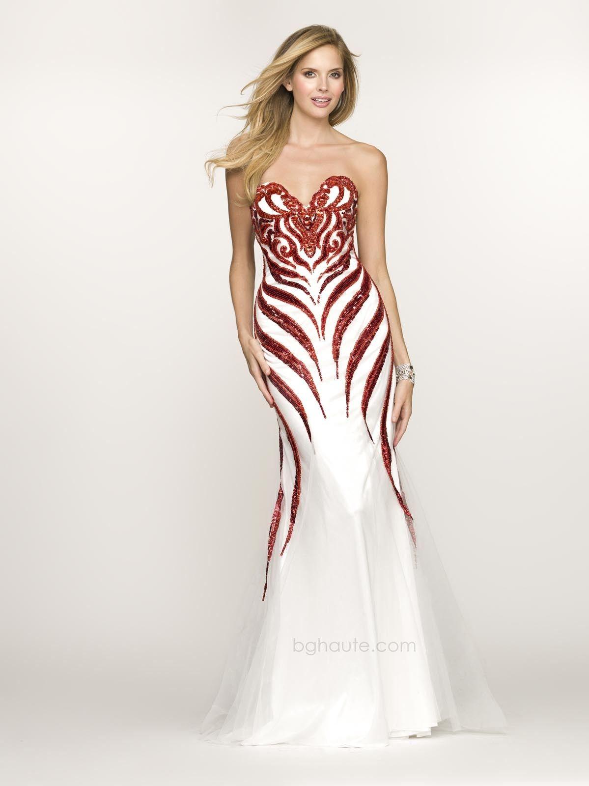 Bg haute g bejeweled mermaid whitered prom dress picture