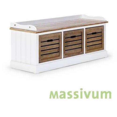 Bank weiß Holzbank Sitzbank Landhaus Holz 3 Schubladen Möbel NEU - ebay küchen neu