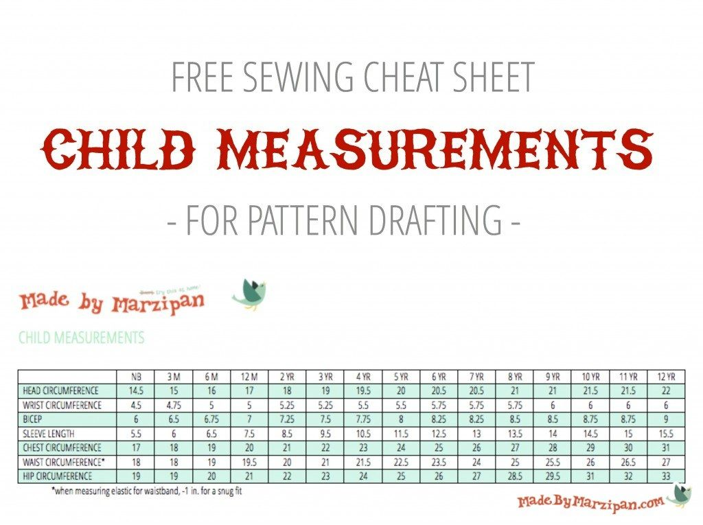 Child Measurements For Sewing Made By Marzipan Sewing Sewing Basics Sewing Tutorials
